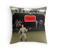 """NO, NO, NO, Billy.....it's """"may the FORCE be with you""""!!! Throw Pillow"""