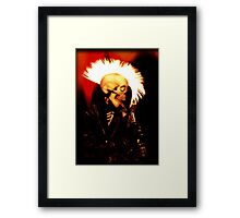 PUNK SKULL ROCKER Framed Print