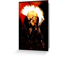 PUNK SKULL ROCKER Greeting Card