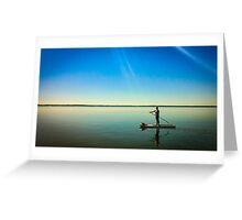Paddleboard Sun Rays Greeting Card