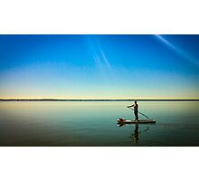 Paddleboard Sun Rays Photographic Print
