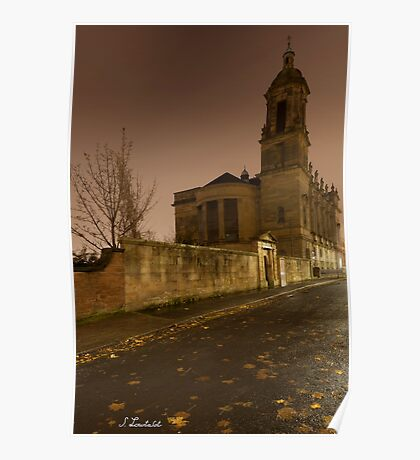Autumn's night in Glasgow Poster