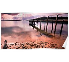 Old Jetty Bay of Fires Tasmania Poster