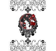 Poison - Black Rose on White Photographic Print