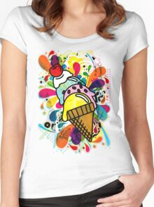Ice_Cream_Paint Women's Fitted Scoop T-Shirt
