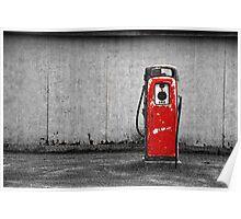Red Vintage Gasoline Pump Poster