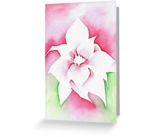 'Red Poinsettia' Christmas design - Aquamarkers. Greeting Card