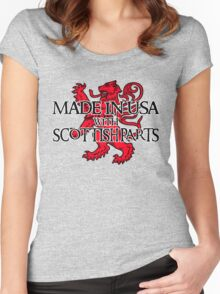 Made in USA with Scottish parts Women's Fitted Scoop T-Shirt