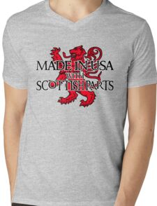 Made in USA with Scottish parts Mens V-Neck T-Shirt
