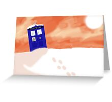 Gallifrey snow scene (Without Text) Greeting Card
