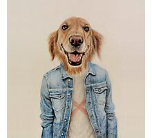 happy dog cowboy Photographic Print