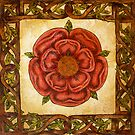 Red Celtic Rose by WildestArt