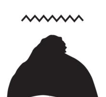 Kaytranada with white 'kayta' and white face Sticker