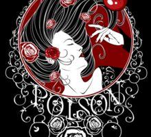 Poison - Black Rose on Black Sticker