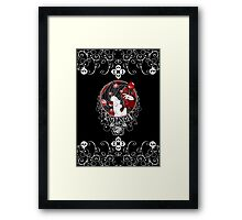 Poison - Black Rose on Black Framed Print