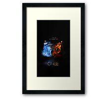 Fire VS Ice - Regina and Elsa Framed Print
