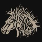 Tribal Horse Cool Vector Tshirt  by Denis Marsili