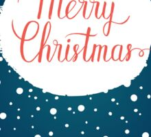 Merry Christmas hand lettering Sticker