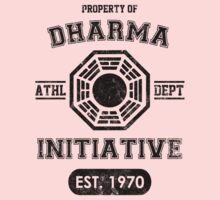Dharma Initiative athletic department (Black ver.) One Piece - Short Sleeve