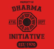 Dharma Initiative athletic department (Black ver.) Baby Tee