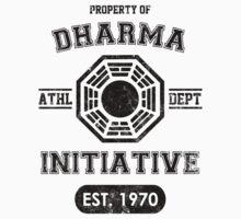 Dharma Initiative athletic department (Black ver.) Kids Tee