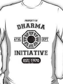 Dharma Initiative athletic department (Black ver.) T-Shirt