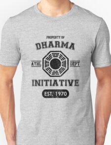Dharma Initiative athletic department (Black ver.) Unisex T-Shirt