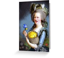 Allegory : David Cameron as Madame Déficit Greeting Card
