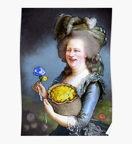 Allegory : David Cameron as Madame Déficit Poster