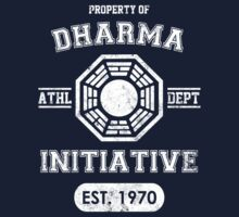Dharma Initiative athletic department (Light ver.) Kids Clothes