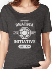 Dharma Initiative athletic department (Light ver.) Women's Relaxed Fit T-Shirt