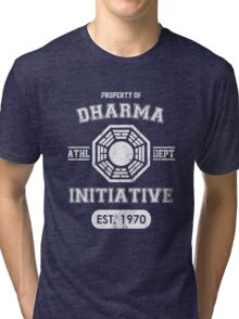 Dharma Initiative athletic department (Light ver.) Tri-blend T-Shirt