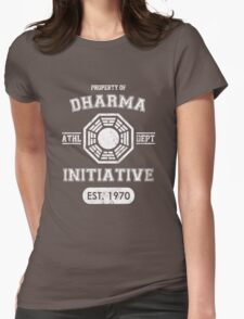 Dharma Initiative athletic department (Light ver.) Womens Fitted T-Shirt