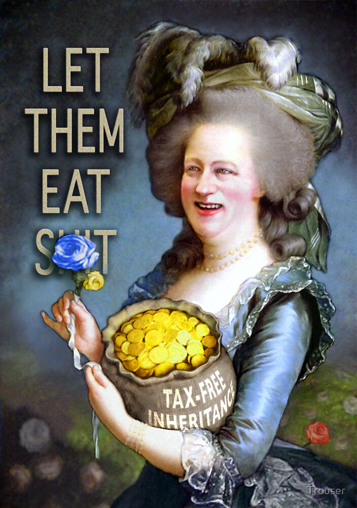 Cameron as Madame Défecit (captioned)  by Trouser
