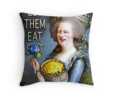 Cameron as Madame Défecit (captioned)  Throw Pillow