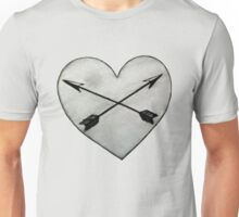 heart with crossed arrows Unisex T-Shirt
