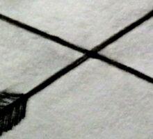heart with crossed arrows Sticker