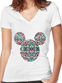Mickey M. Women's Fitted V-Neck T-Shirt