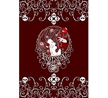 Poison - Blood Rose on Red Photographic Print