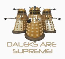 Daleks are Supreme One Piece - Short Sleeve