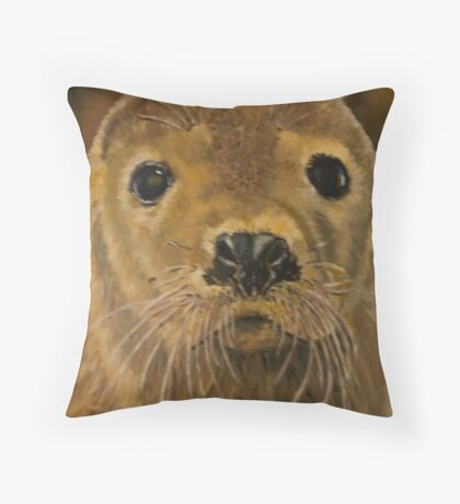 Pups Eyes Throw Pillow