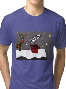Santa Claustrophobia Tri-blend T-Shirt