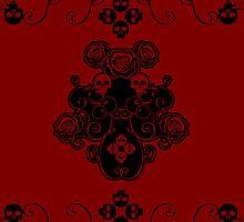 Roses & Rotten Apples - Gothic Black by Samantha Johnson