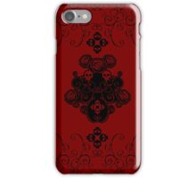 Roses & Rotten Apples - Gothic Black iPhone Case/Skin