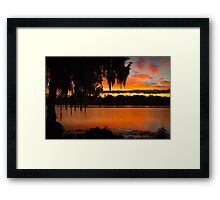 Colorful Lake Sunrise Framed Print