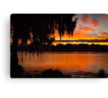 Colorful Lake Sunrise Canvas Print