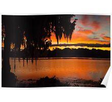 Colorful Lake Sunrise Poster