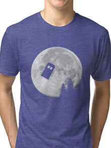 Tardis by the Moon Tri-blend T-Shirt