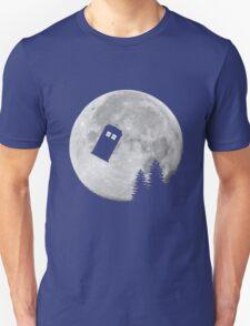 Tardis by the Moon Unisex T-Shirt