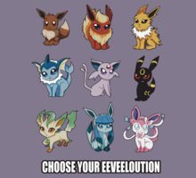 Choose Your Eeveeloution Shirt by Graffiti2D